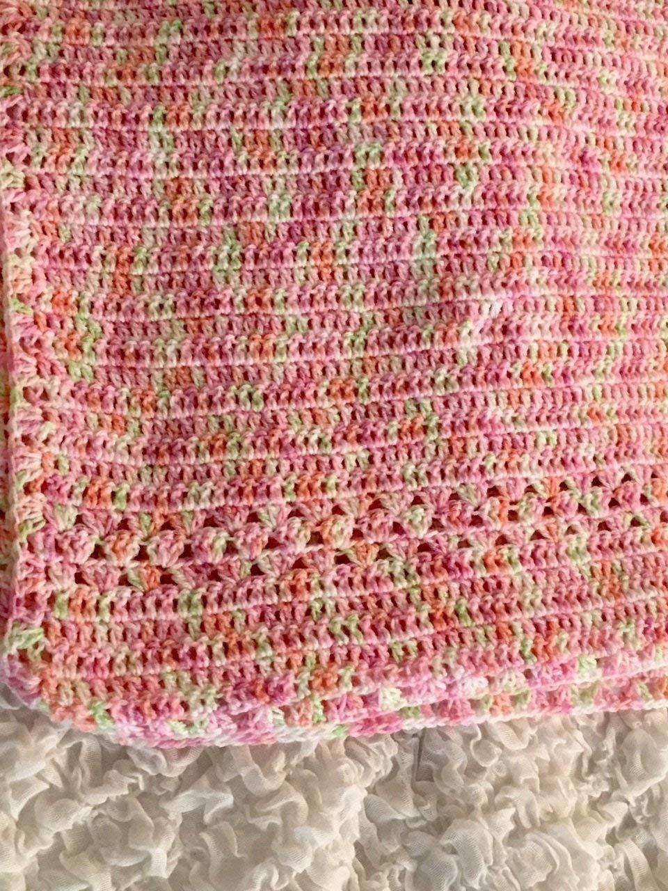 fda8c8aee Get Quotations · Pink Nursery blanket, Baby blanket, Crochet Blanket, Baby  blanket for boys, girls