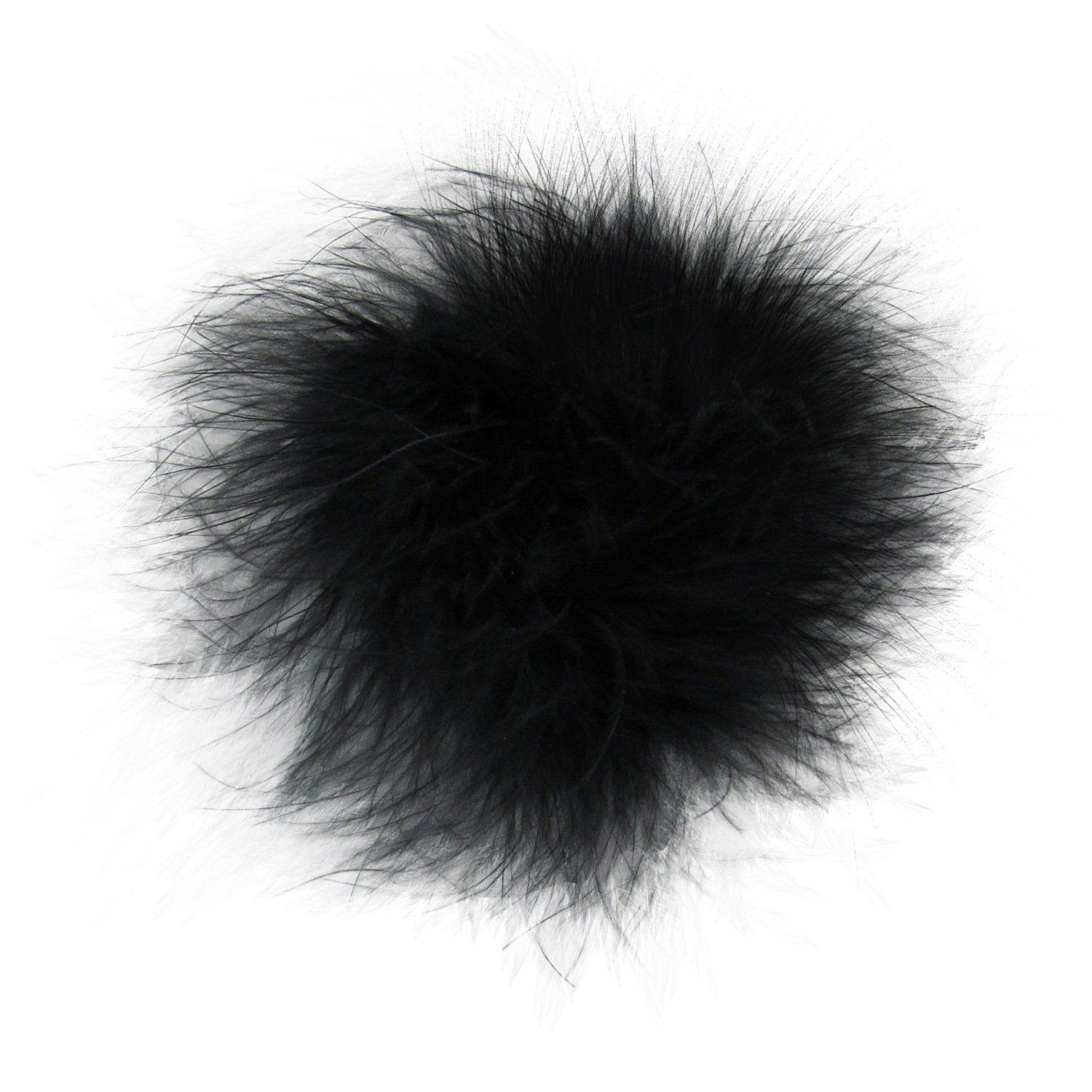 Marabou Feather Puff Princess Dress-Up Hair Bow Clip