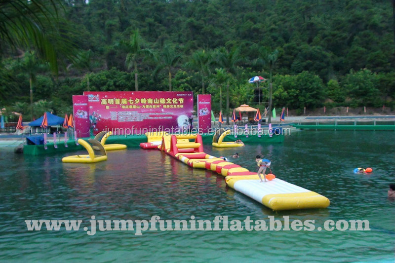 Inflatable floating water park /aqua obstacle course for kids