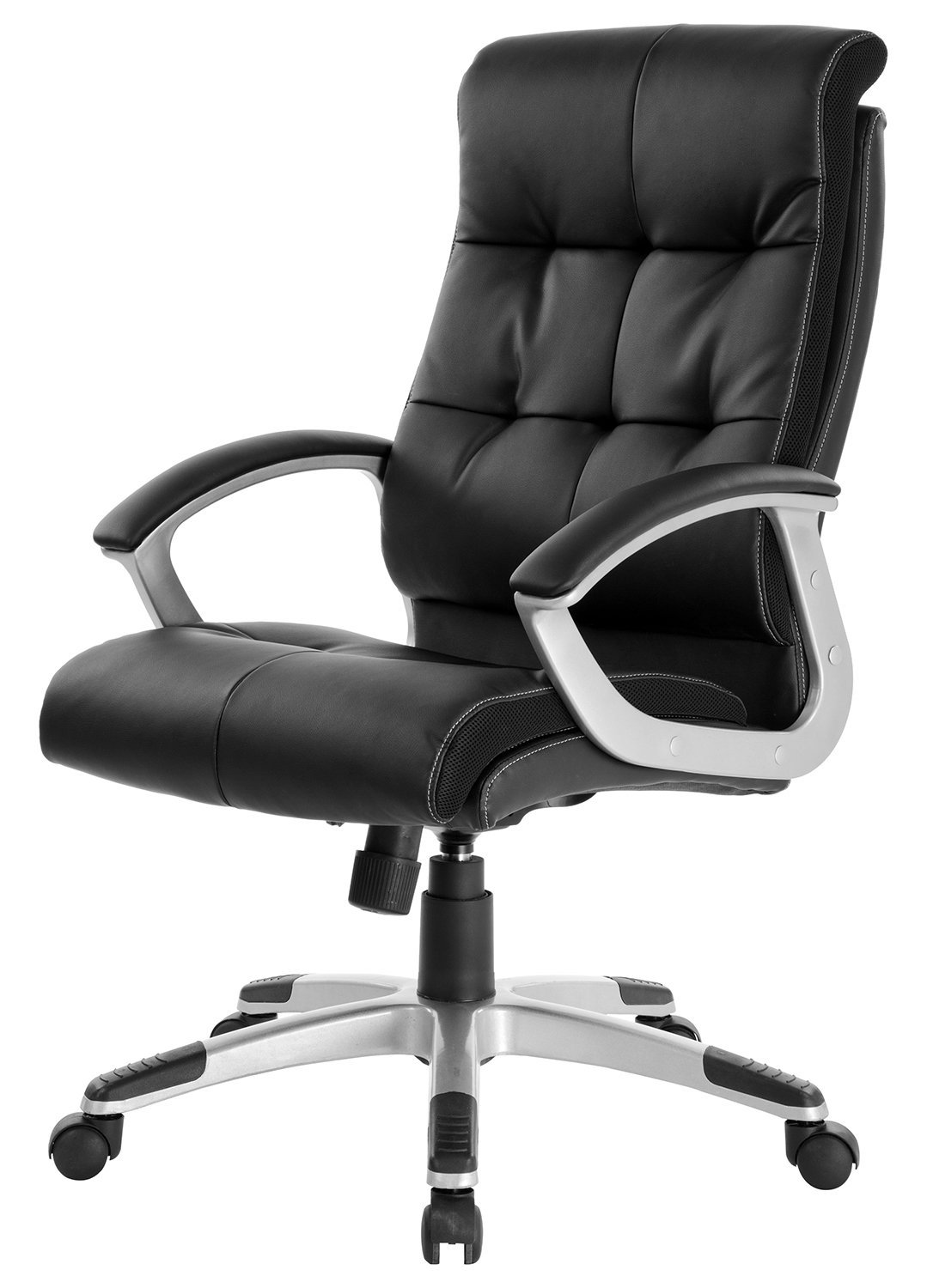 Merax® Pu Leather High Back Office Chair Executive & Managerial Chair Computer Desk Office Chair(Black)