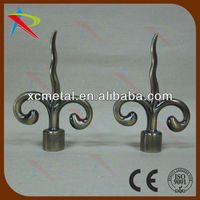 Ready made metal curtain finial for foreign hardware trading company