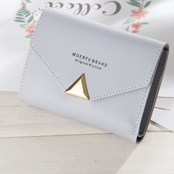 2018 New Style PU leather Women small purse short section Bitcoin wallet for lady