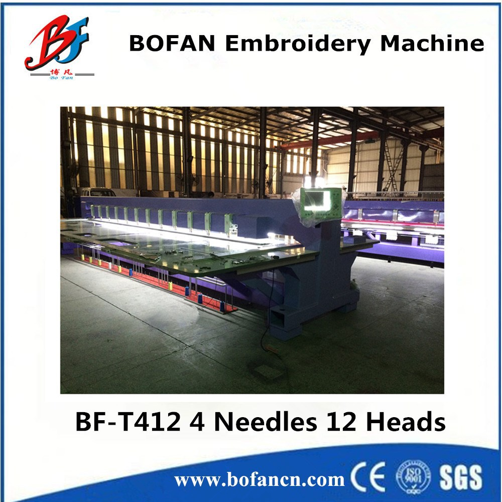 BOFAN 12 head chenille embroidery machine with dahao software