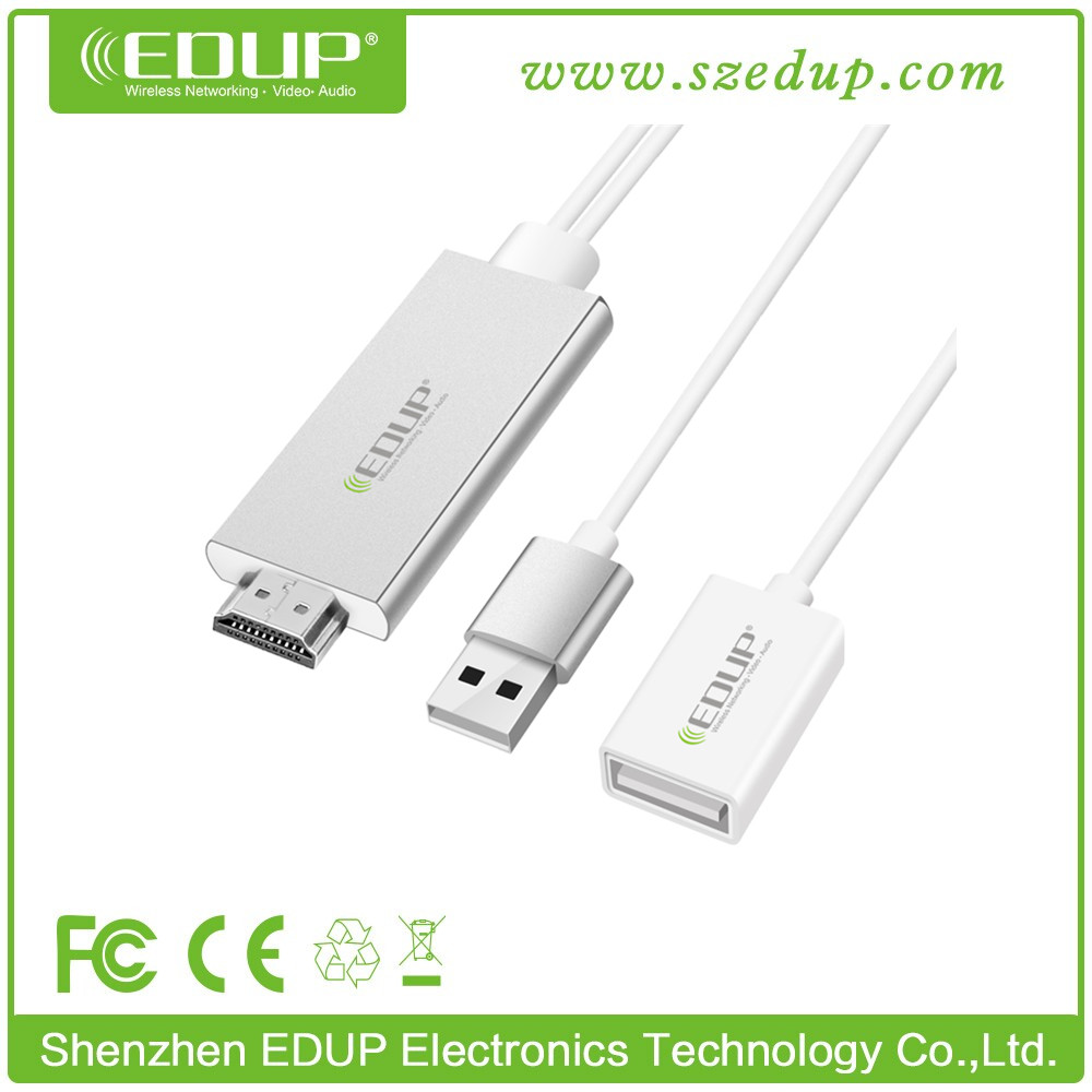 EDUP new model EP-HM3601 light-ning digital AV adapter for iphone, ipad to airplay HD TV