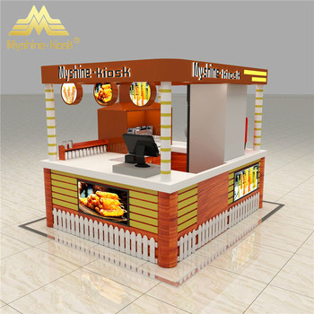 2m by 2m size shopping mall indoor food kiosk design fried for Indoor food kiosk design