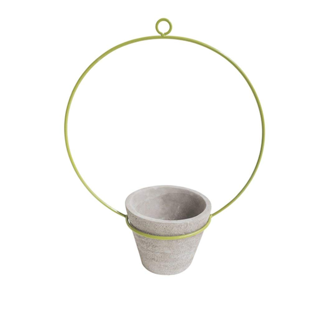 CSQ Wall-Mounted Flower Stand, Desktop Flower Stand Iron Art Cement Pot Indoor Bedroom Living Room Study Decoration (Size : 3141.5cm)