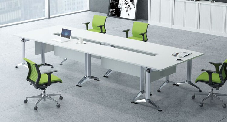 Modern Luxury Tables White Meeting Room Table Folding Conference