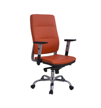 Classic swivel brown leather office chairs / high adjustable Executive Chair with arms / PU office chair
