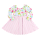 Easter children boutique clothes fashion design colorful eggs printed ruffle striped girl dress