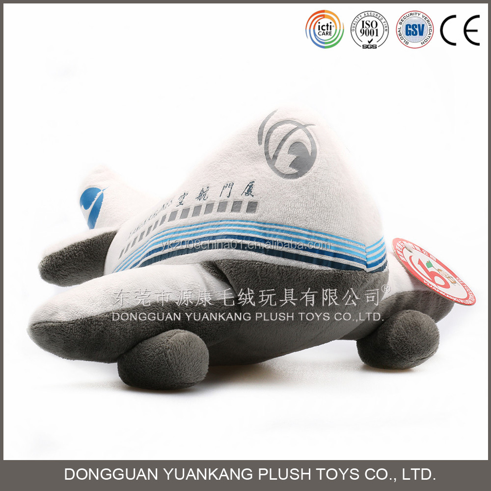 Stuffed airplane shaped plush pillow toy for Airline company promotional gifts