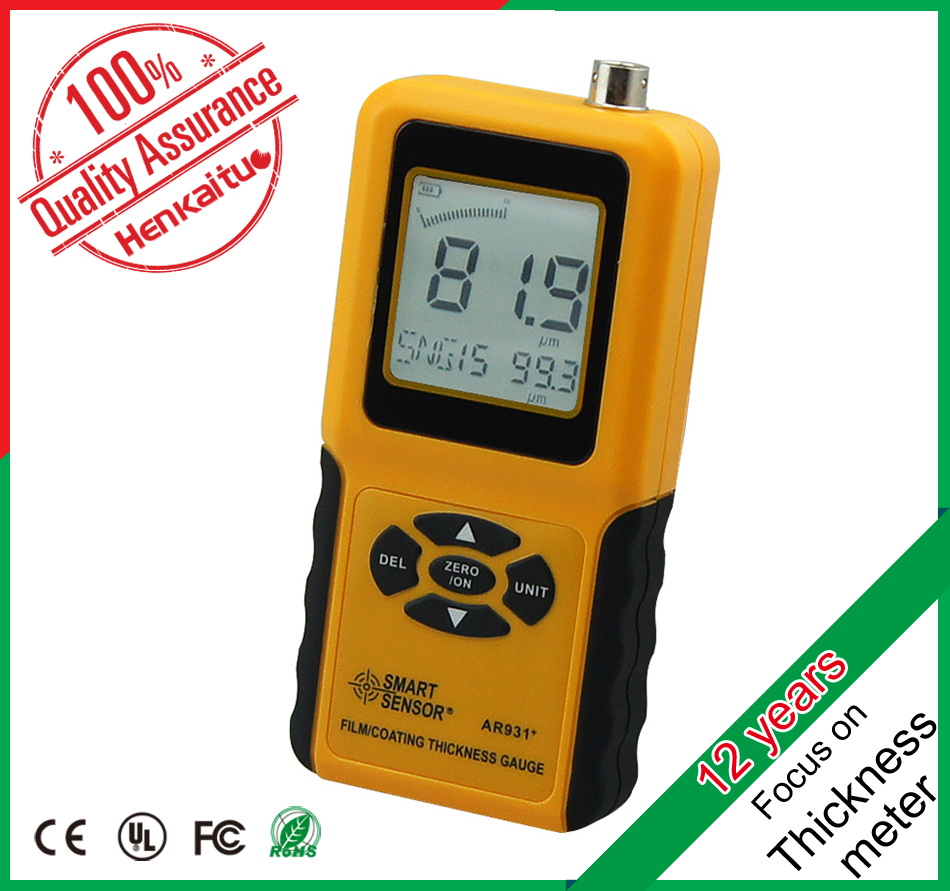 High Quality LCD Backlight Digital Hdpe Pipe Wall Galvanized Coating Thickness Meter