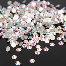 1440 Unidades/pacote Rhinestoens SS3-SS12 Crystal Clear AB Não Hotfix Strass Flatback Prego Para Unhas 3D Nail Art Decoração Gems
