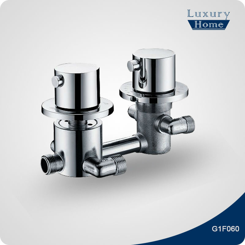 Modern Bathroom Mixer twin thermostatic shower valve
