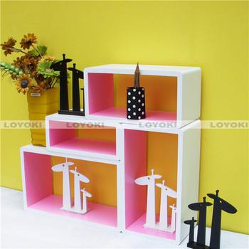 Living Room Wall Wood Cube Shelf Oem Letters Furnishing