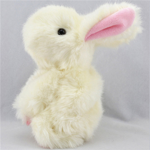 Cute and cheap plush rabbit toy/white easter bunny toy