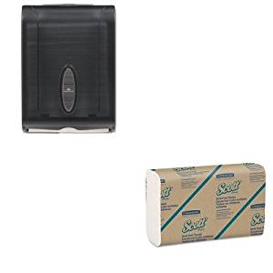 KITGEP5665001KIM01804 - Value Kit - KIMBERLY CLARK SCOTT Multifold Paper Towels (KIM01804) and GP 566-50/01 Translucent Smoke Combination C-Fold or Multifold Paper Towel Dispenser (GEP5665001)