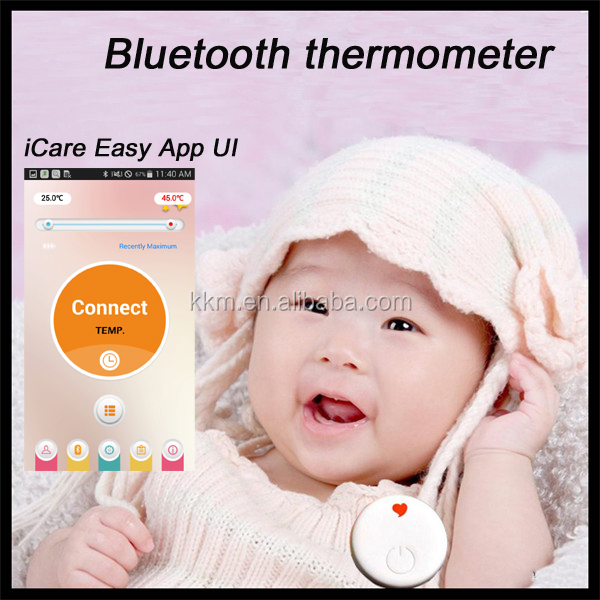2015 high quality smart product remote wireless cloud intelligent baby digital thermometer connecting App