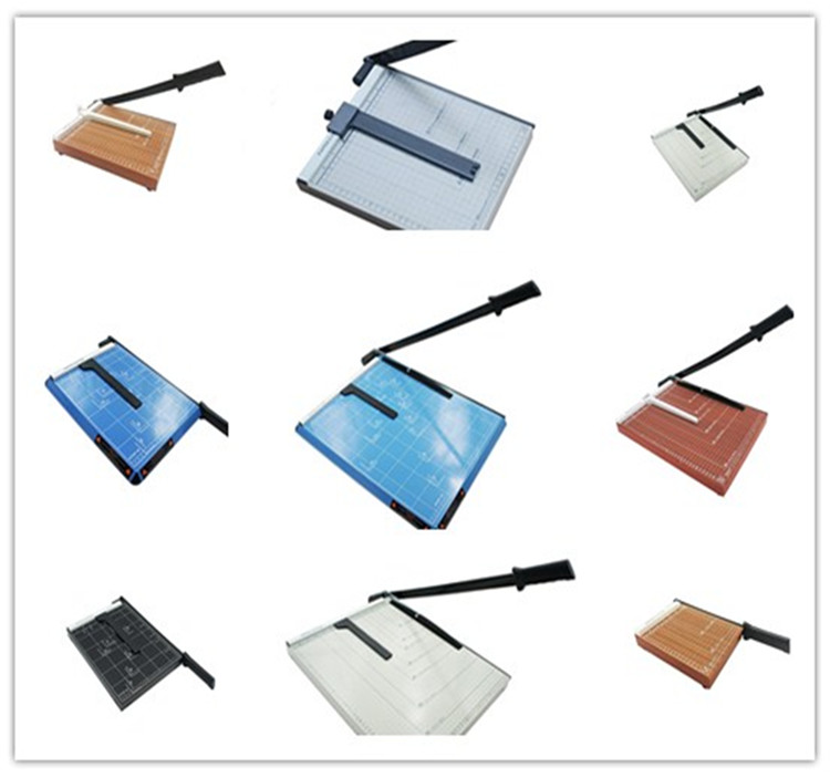 Black Metal Paper Cutter Trimmer A4 Paper Machine Paper Cutting Machine 12 sheets Capacity