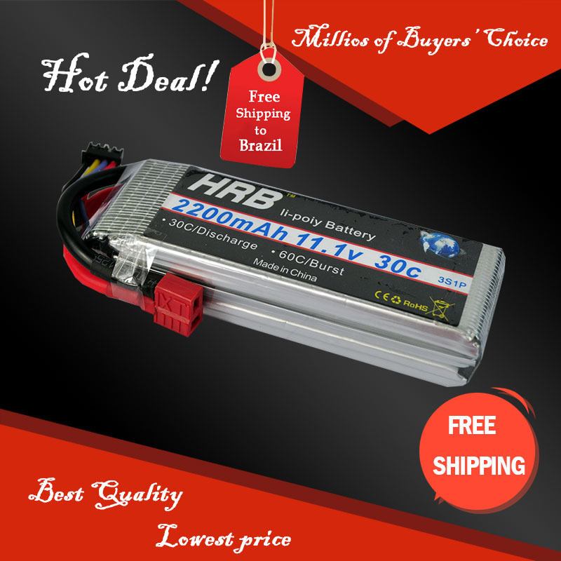 HRB   Free shipping Lion Power Lipo battery 11.1V 2200MAH 30C 3S1P Max 60C fast charing RC Lipo battery for DJI Phantom trex 450