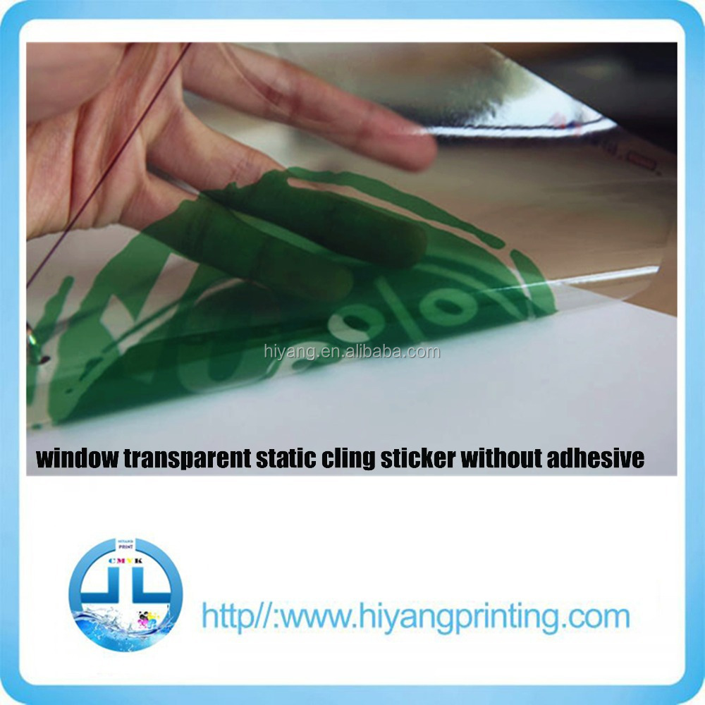 Custom car window transparent static cling sticker without adhesiveelectrostatic window stickers
