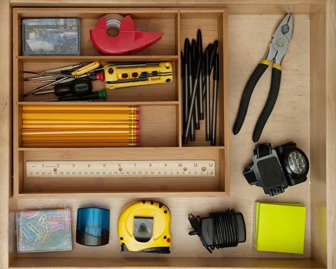 Wholesale Kitchen Bamboo Drawer Organizer Divider 7