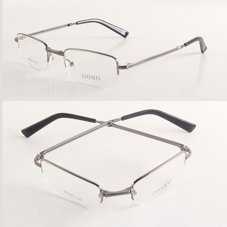 ce7ad8ab122 Get Quotations · Free Shipping Half Rim Myopia Eyeglass Frame Men Optical  Fold Up Glasses Spectacles Eyewear Rx able
