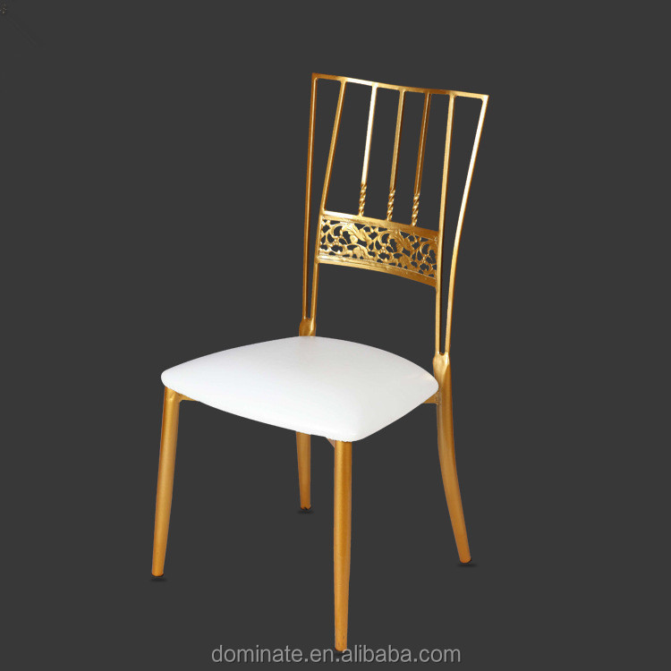 Wholesale Modern Creative Gold Metal Steel Rod Wedding Chair