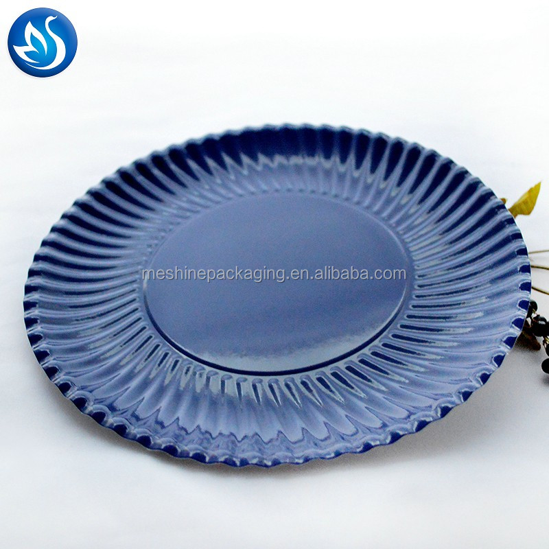 Custom degradable Birthday party disposable paper plates and tray