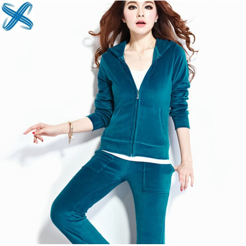 a6ed7c5c Get Quotations · S-4XL Plus Size Sports Suits Women Casual Two Piece Set 13  Colors Tracksuits for