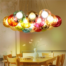 Top Quality Modern Hotel Decoration Colorful Glass Ball Hanging Chandelier from China Supplyer