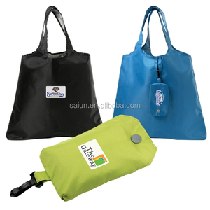 Tote style cute pouch reusable nylon foldable shopping bag