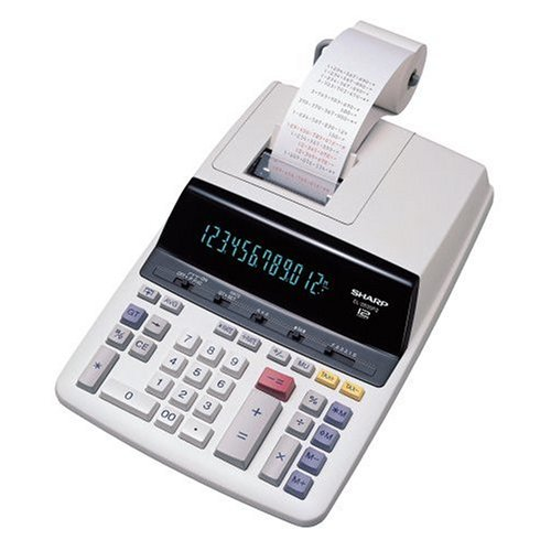 Sharp EL-2630PII Deluxe Heavy Duty Two Color Printing Calculator