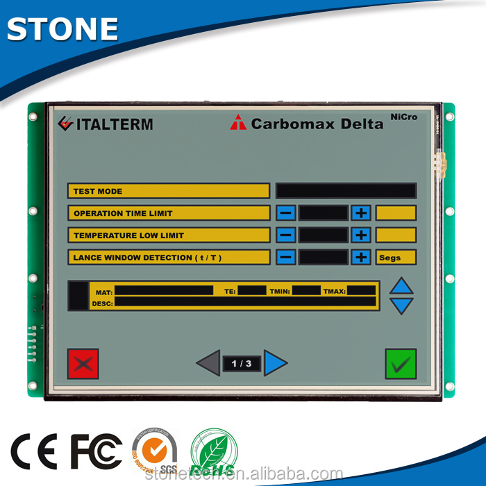 800*600 Embedded 7 inch HMI+touch screen+Mother Board +Software with CPU/Driver,support RS232/RS485/TTL port