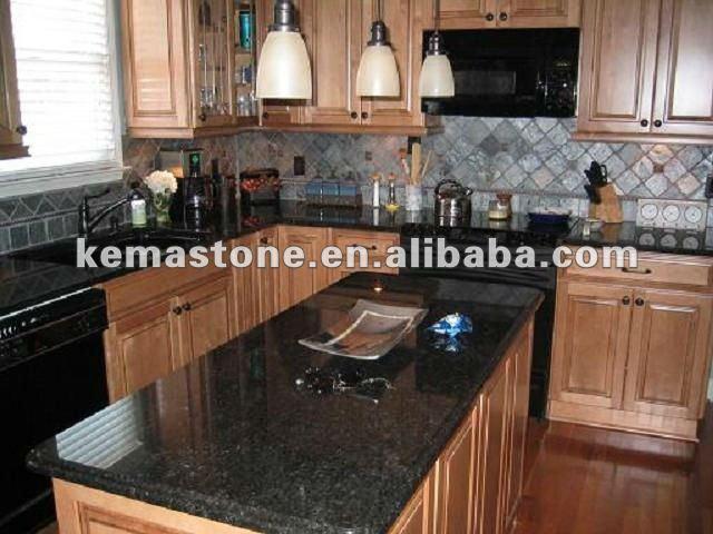 pr fabriqu e noir perle cuisine comptoir de granit comptoirs comptoirs du bain plateaux de. Black Bedroom Furniture Sets. Home Design Ideas