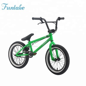 Funlake high quality cheap price racing bicicleta cycle custom freestyle street bmx 16'' mini flatland bicycle bmx child adult