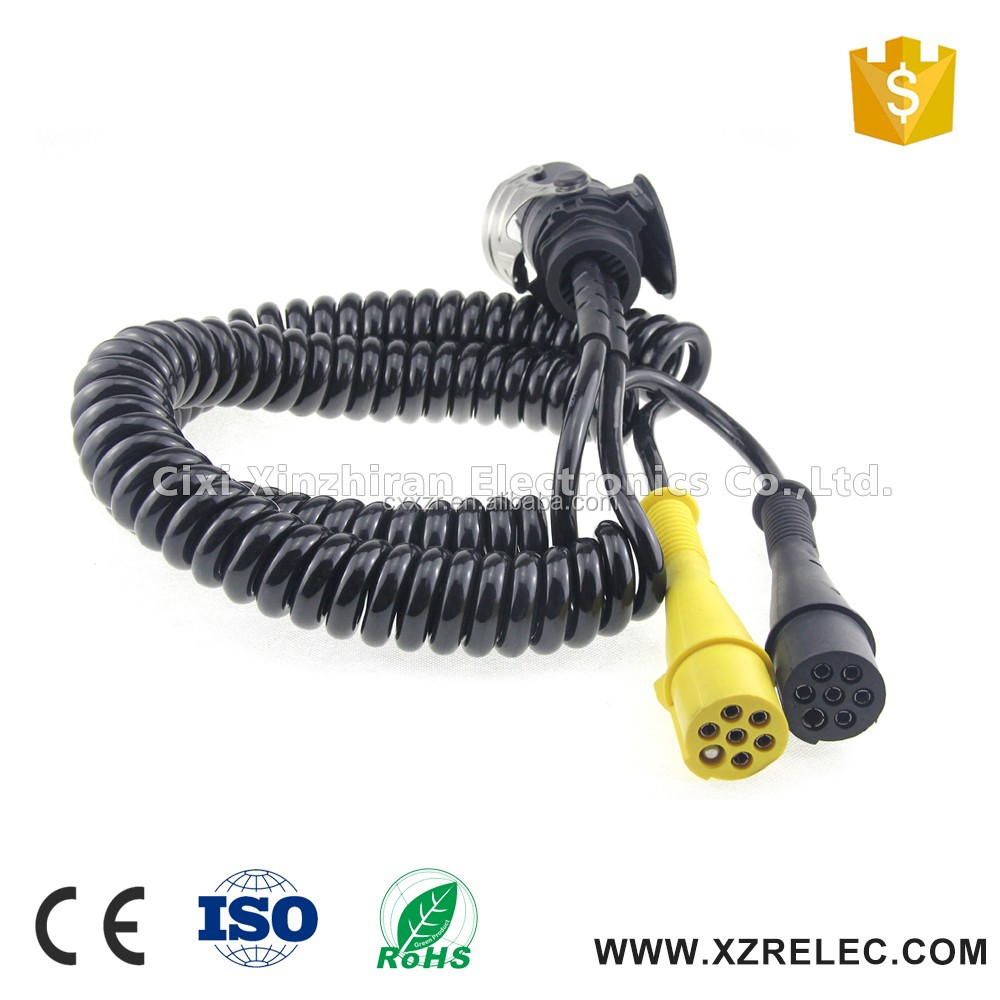 Heavy Duty Trailer 15 Pin Trailer & Truck Electrical Cable 2x7pin ...