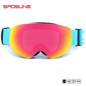 c5202a8c21b Frameless Wide HD Vision Spherical Anti-fog OEM Custom Snow Ski Goggles  Sunglasses