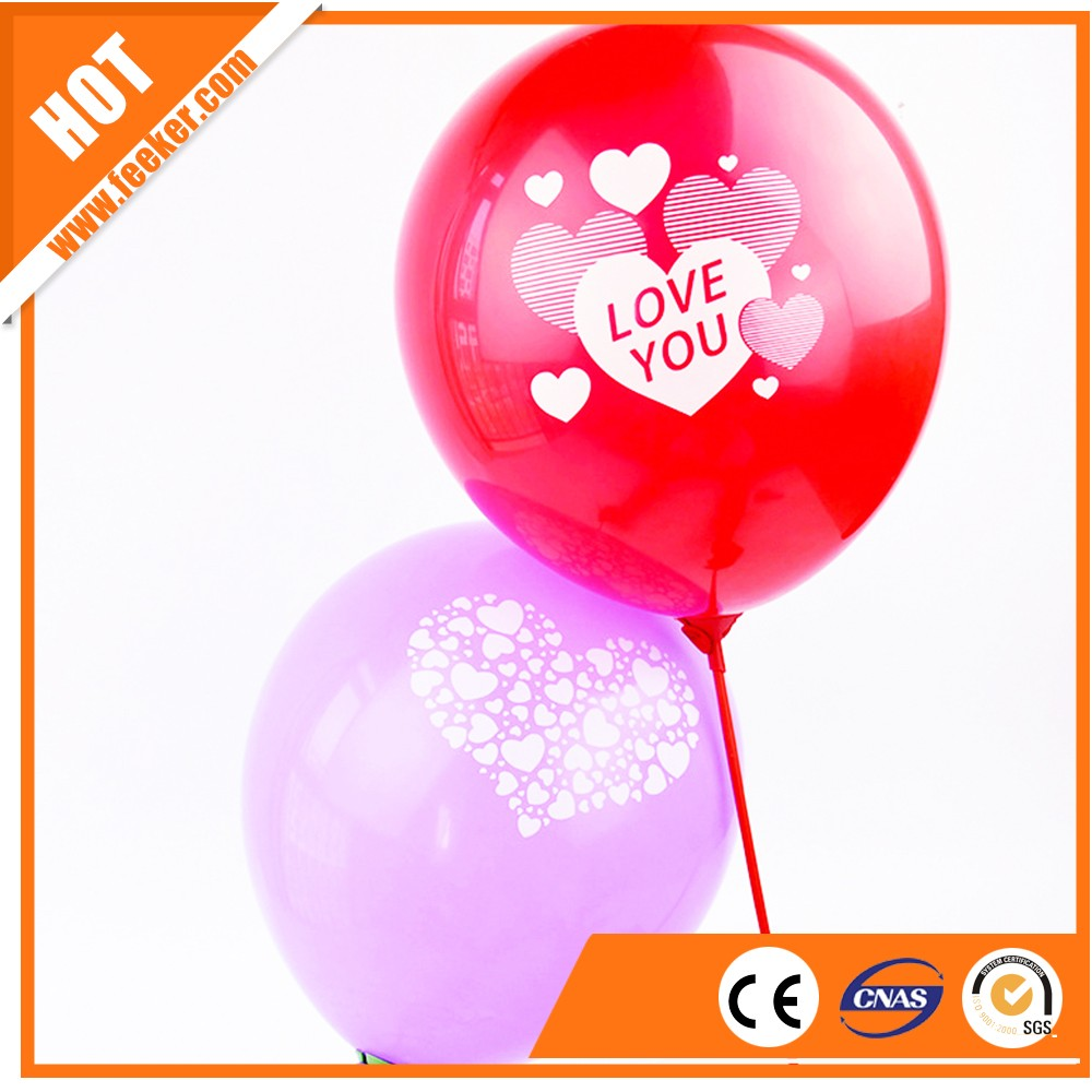 "wholesale 12"" cheap 3.2g custom heart printed clear Transparent Latex Balloons"