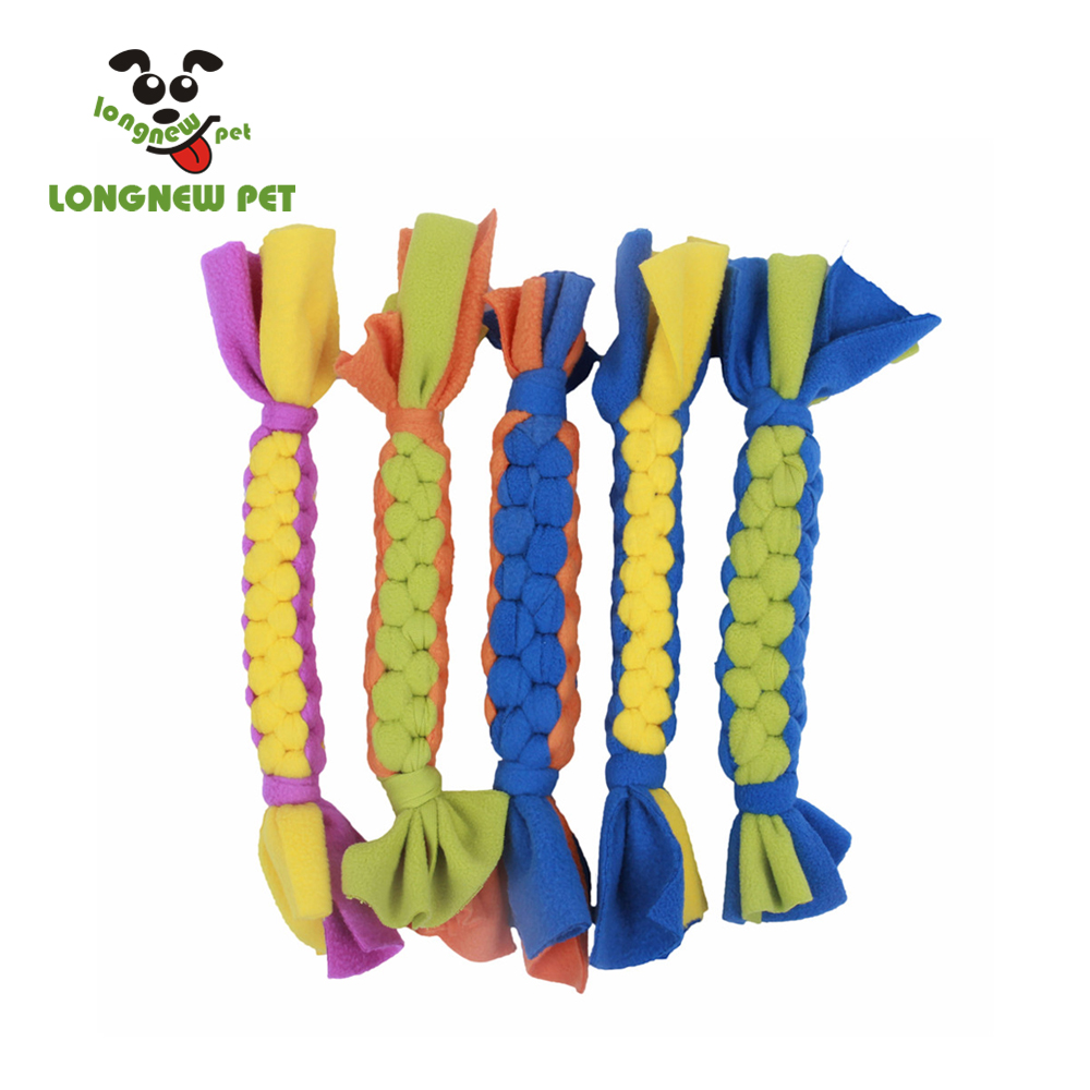 Braided Fleece Lure Toy for Dogs Safer Alternative to Rope Toys
