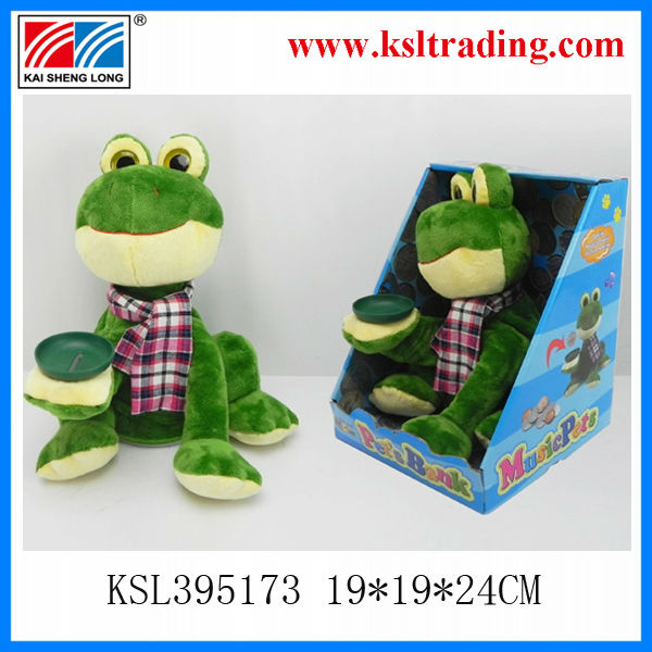 Funny Money control singing plush baby doll dancing musical frogs