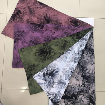 high quality discharge  printed spun  rayon