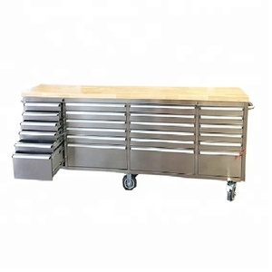 Garage Drawer Stainless Steel Customized Tool Cabinet Smooth With Casters
