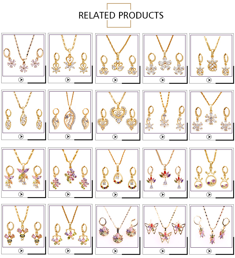 Wholesale High Fashion Gold Plated African Beads Jewellery Jewelry Set