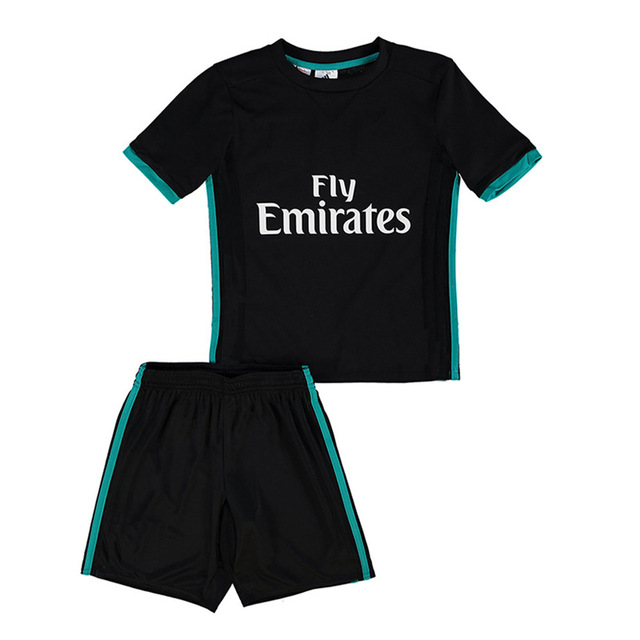 Free Shipping to madrid kids jerseys 2017 2018 new real homa and away RONALDO soccer jersey football Children kit