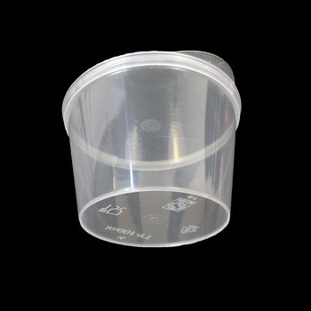100ml Small disposable plastic cup plastic sauce cup with hinged lid plastic seasoning cup