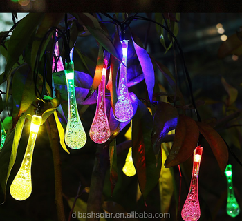 Led Christmas Drop Water String Lights