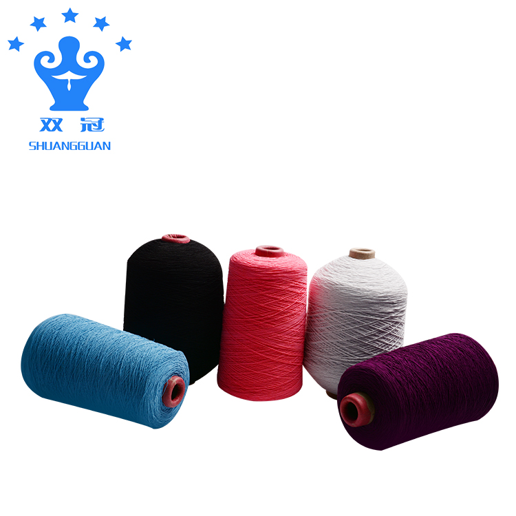 Factory wholesale colored rubber dyeing polyester filament yarn