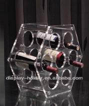 Circle acrylic red wine rack for retail