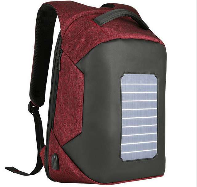 New arrival waterproof computer travelling solar backpack anti-theft school backpack bag with usb charge