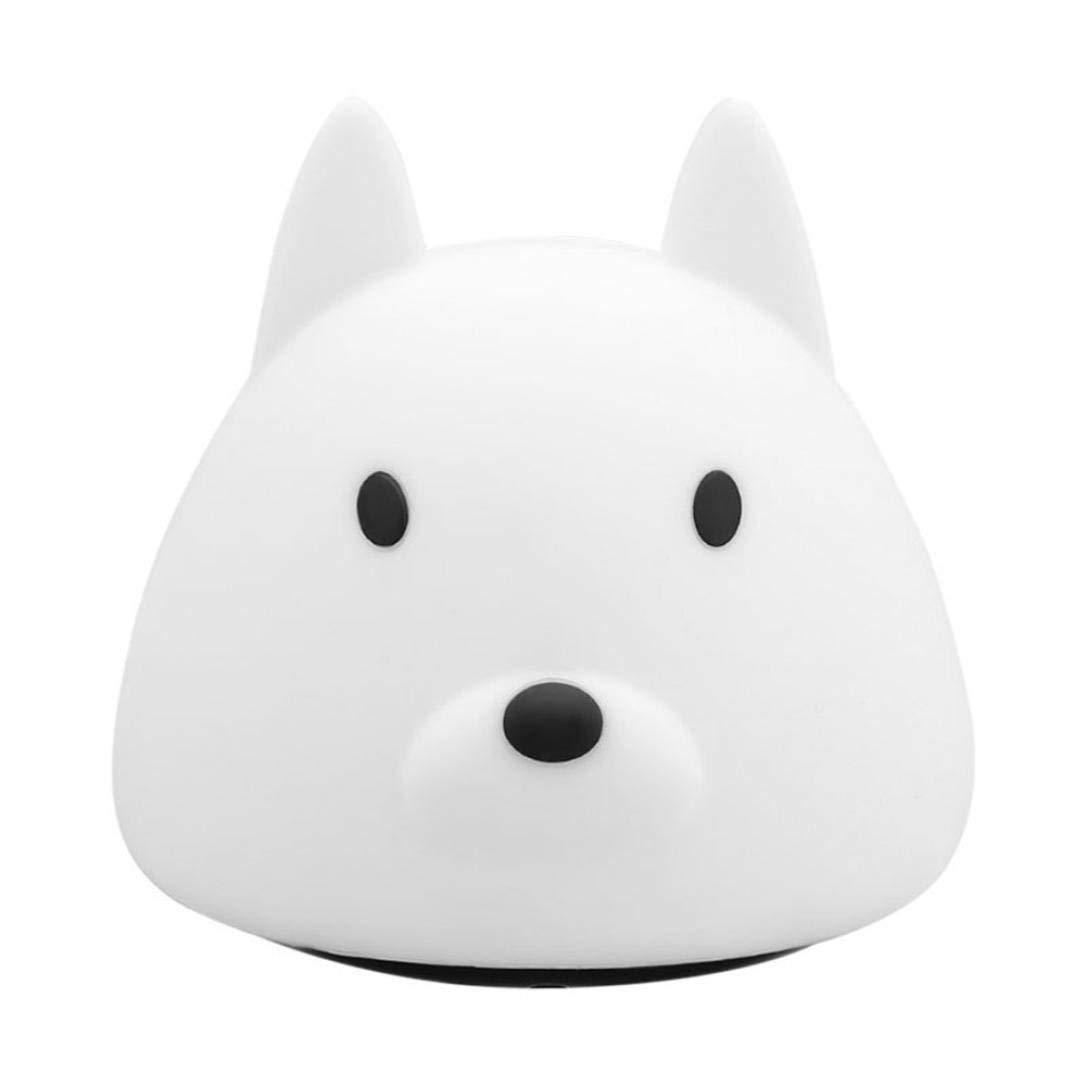 Night Light for Kids,Caopixx Lovely Dog Children Bedroom Decor LED Lamp Bulb Relax Depressurize Lights (White)